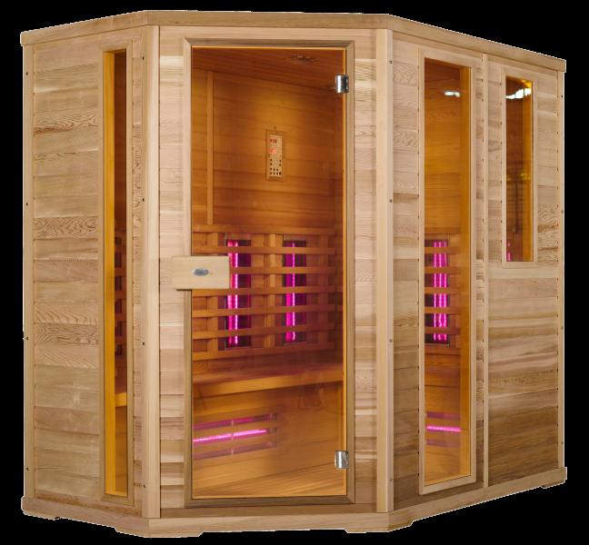IR sauna cabine Groot 6-8 personen