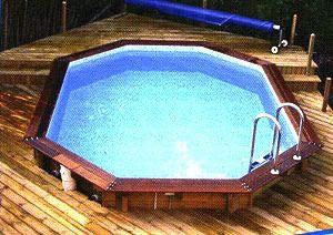 Houten zwembaden opbouw half ingegraven of ingebouwd for Zwembad half inbouw